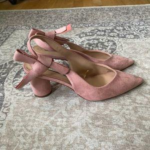 Zara Trafaluc Pink Suede Heels